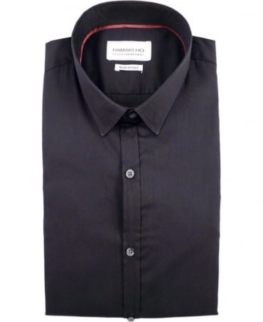 Hamaki-Ho Black CA601H Italian Made Shirt