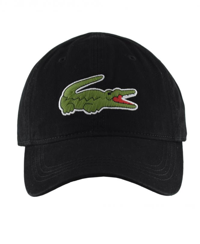 115662e3 Black Cap With Oversized Crocodile