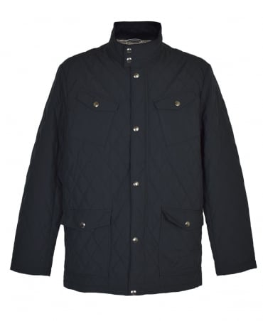 Gant Black Central Pond Quilter Jacket