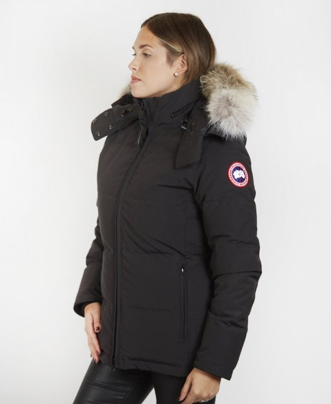 Black 'Chelsea' Parka Coat