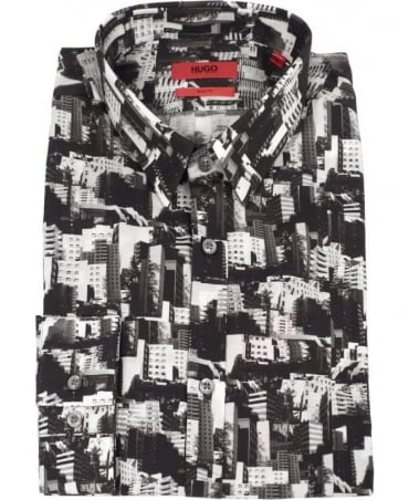 Hugo Black Cityscape Slim Fit Ero3 Shirt