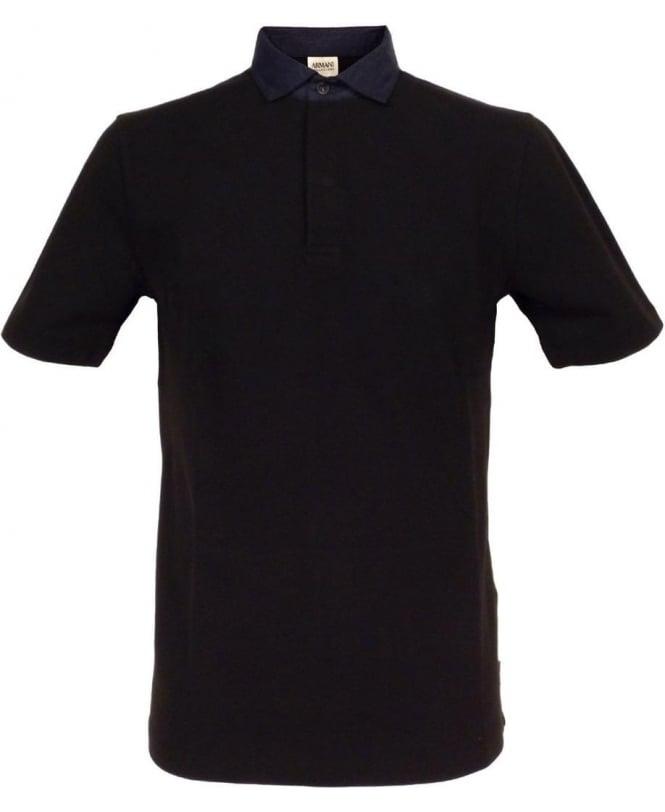 Armani Collezioni Black Collezioni SCM39J Polo Shirt
