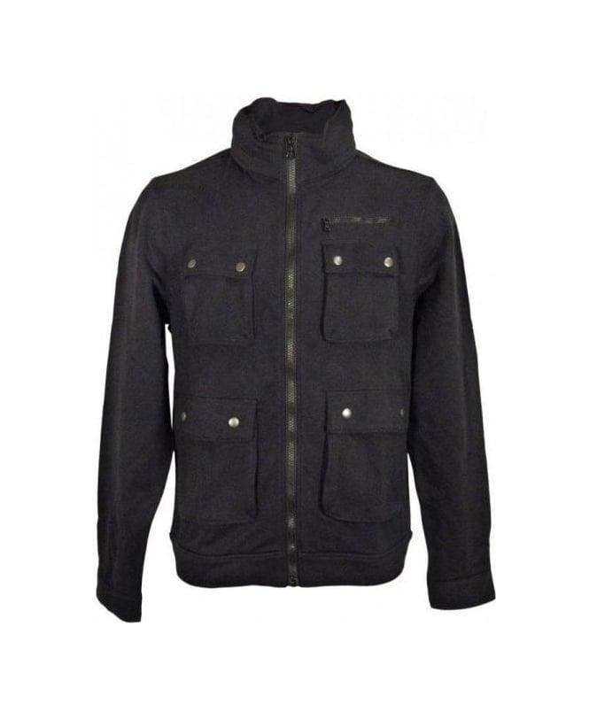 Hugo Boss Black Cotten Sweatshirt Jacket