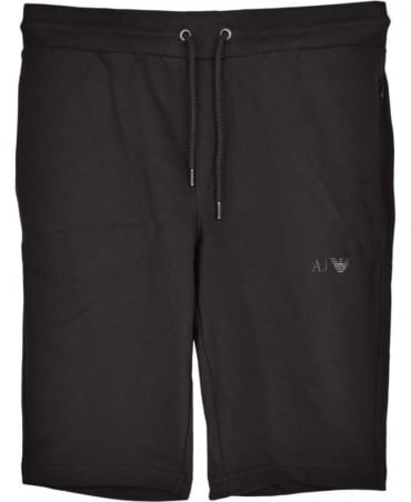 Armani Jeans Black Cotton Drawstrings Shorts