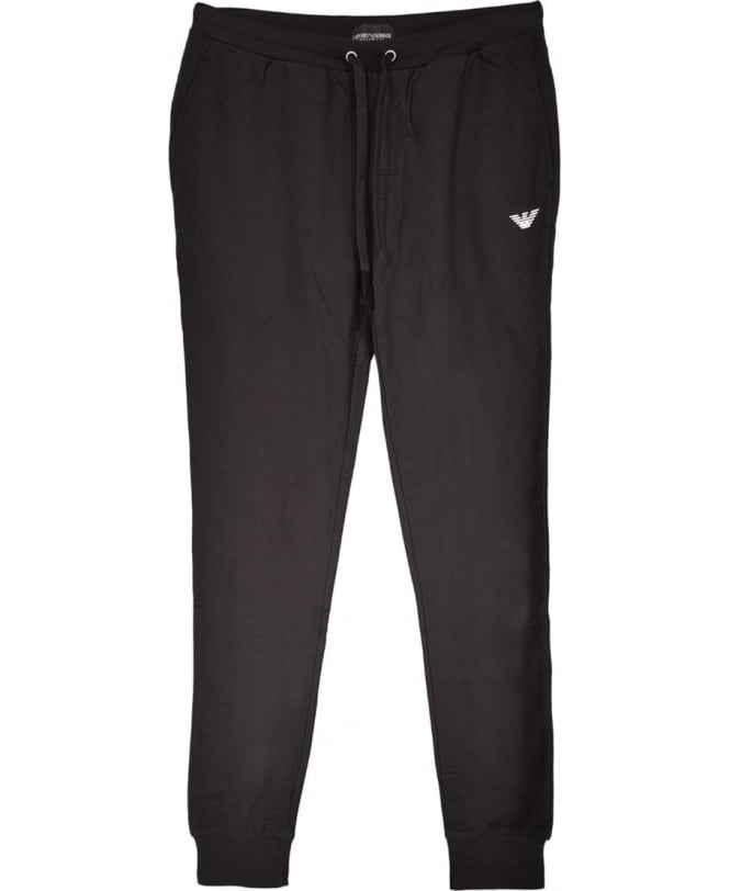 price remains stable new specials new collection Emporio Armani Black Cotton Tracksuit Bottoms