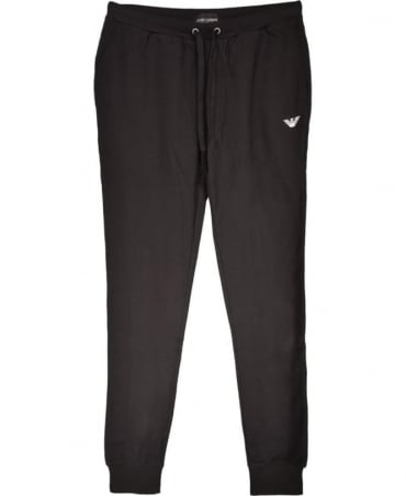 Emporio Armani  Black Cotton Tracksuit Bottoms