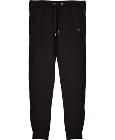 True Religion Black Cotton Tracksuit Bottoms