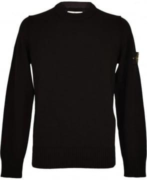Stone Island Black Crew Neck 550AA3 Knitwear Jumper