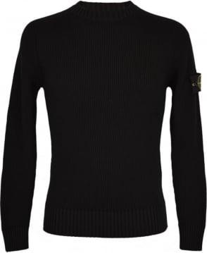 Stone Island Black Crew Neck 6715506C2 Knitwear Jumper