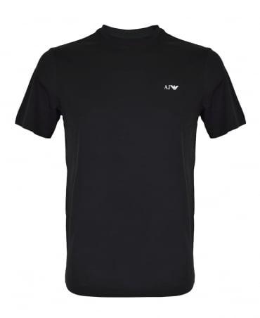 Armani Jeans Black Crew Neck 8N6D01 T-shirt