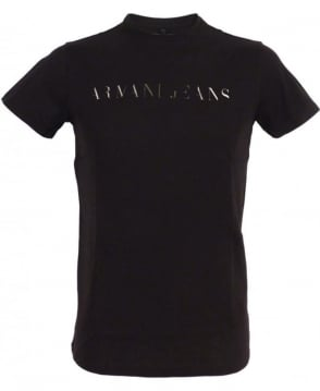 Armani Black Crew Neck C6H12FF1212 T/Shirt