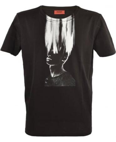 Hugo Black Crew Neck Dwist 50323288 T/Shirt