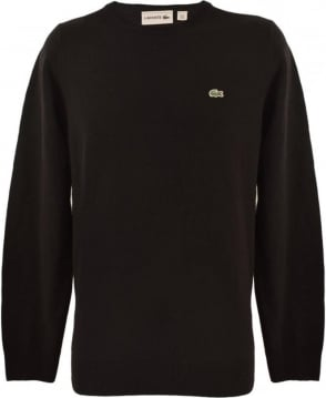 Lacoste Black Crew Neck Knitwear Jumper