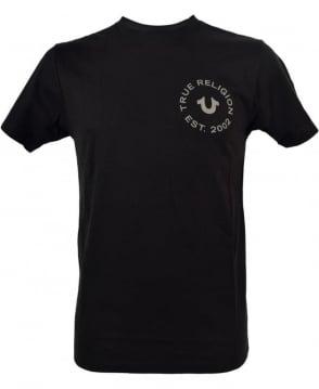 True Religion Black Crew Neck MA4510F9 T/Shirt