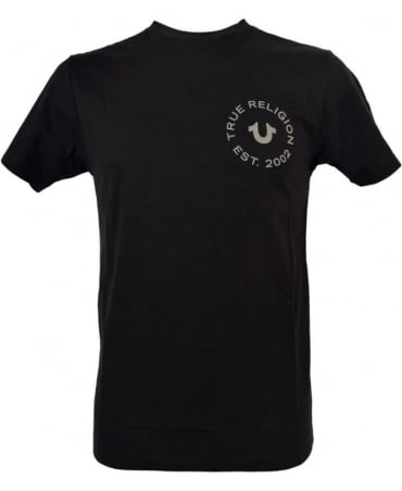 True Religion Black Crew Neck MA4510F9 T/Shirt