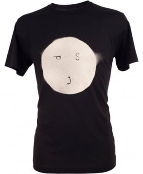 Paul Smith - Jeans Black Crew Neck P8954 'Smiley' T-Shirt