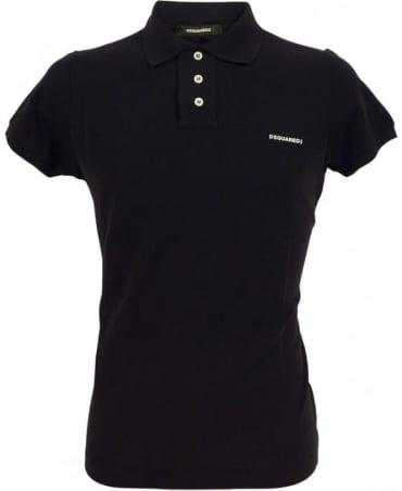 Dsquared2 Black D7MD10580.11050 Four Button Polo
