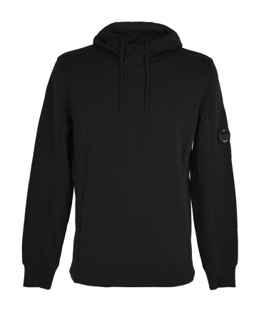 C.P. Company Black Drawstring Hooded Sweatshirt