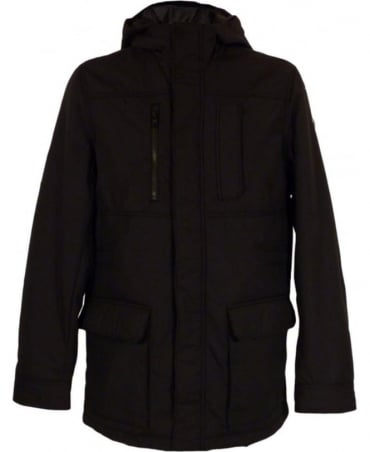 Victorinox Black Ecodown Water Repellant M30056 Hooded Blouson