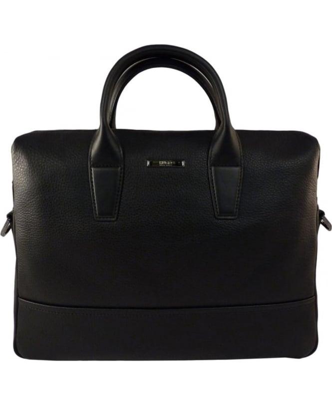 Hugo Black Element_S Doc 50316866 Grained Leather Bag
