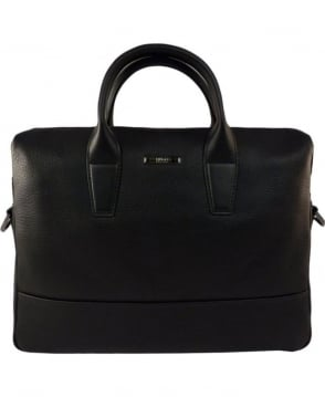 Hugo Black Element_S Doc 50316866 Grained Leather Bag