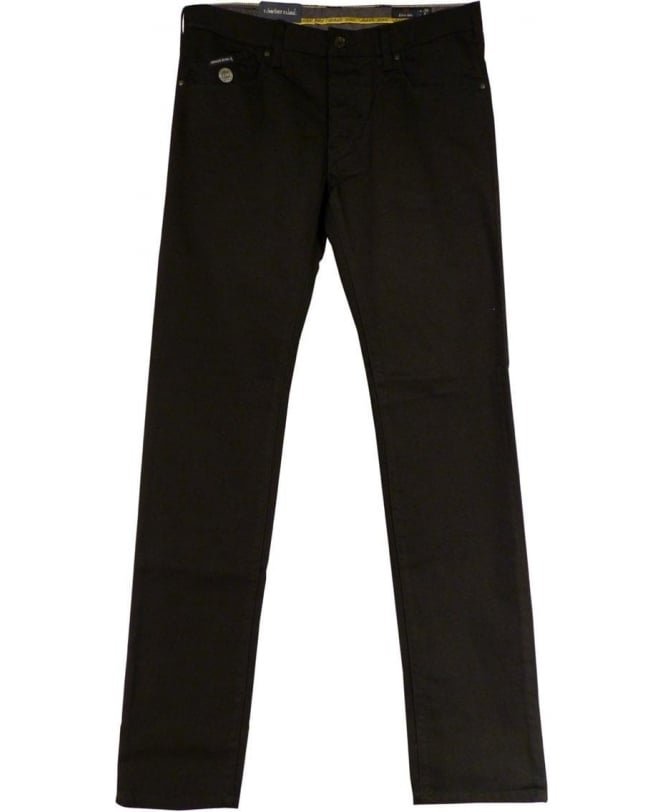 Armani Jeans Black Extra Slim Fit Low Waist J20 Jeans
