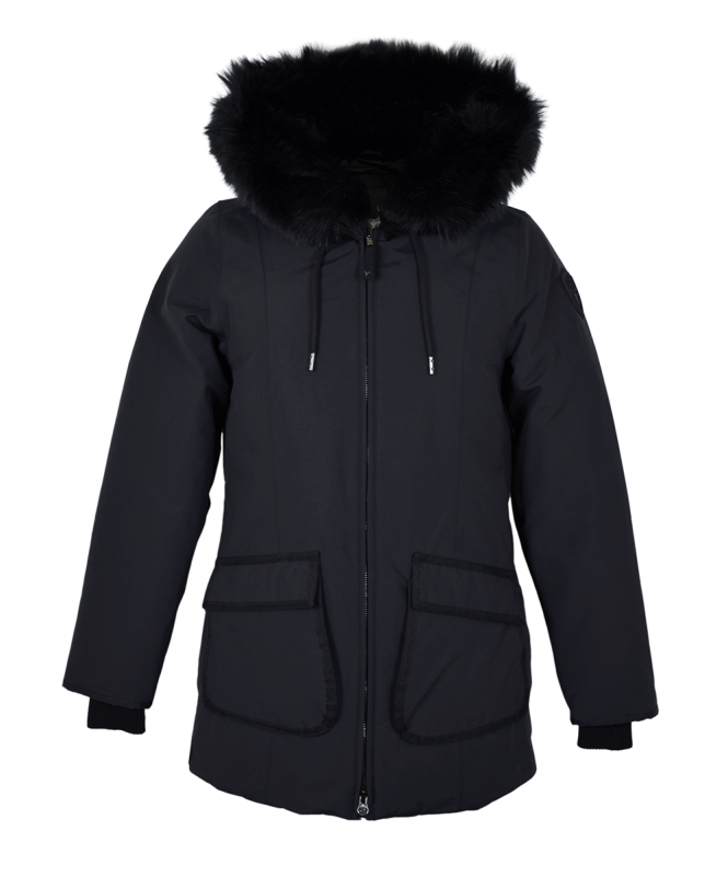 869646a0cb57 Nobis Black Faux Fur Mindy Coat - Outerwear from Jonathan Trumbull UK