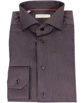 Eton Shirts Black Fine Twill Slim Fit Shirt