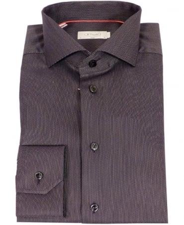 Eton Shirts Black Fine Twill Slim Fit Shirt
