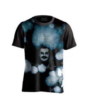 Serge DeNimes Black Flowers Print T-Shirt