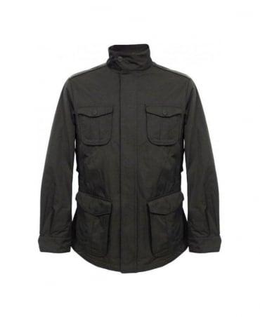Armani Black Four Pocket Water Repellent Coat MCG22W