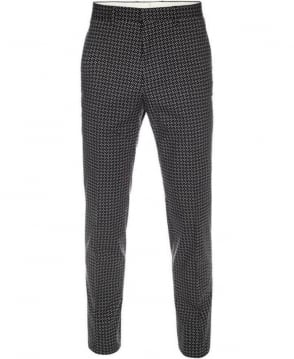Paul Smith  Black Glentworth Print Gents Trousers PKXD/248K/872
