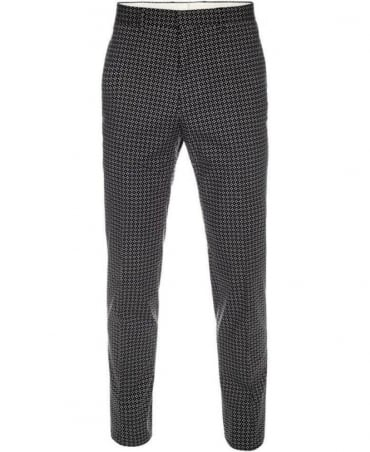 Paul Smith - PS Black Glentworth Print Gents Trousers PKXD/248K/872