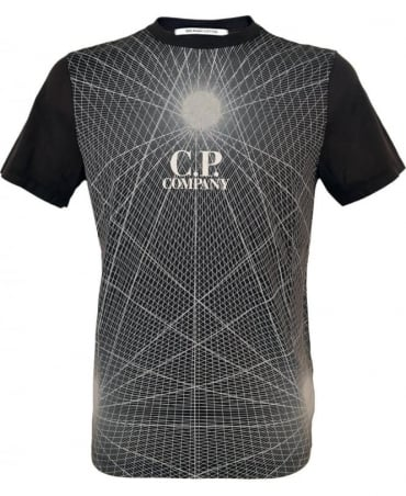 CP Company Black Graphic Print Crew Neck UHO231200 T/Shirt