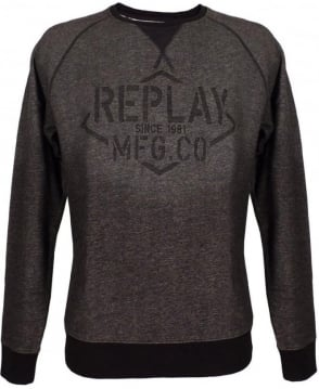 Replay Black & Grey Crew Neck M6580 Sweatshirt