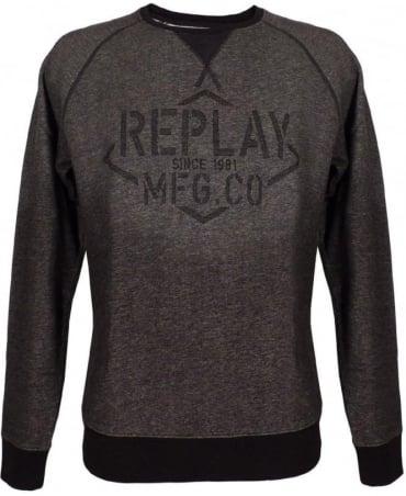 Replay Black & Grey Crew Neck M6580 Sweatshirt