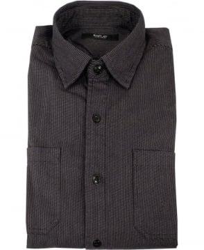 Replay Black & Grey Fine Stripe Shirt