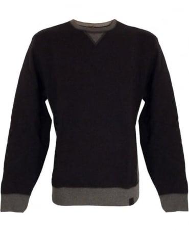 Victorinox Black & Grey Milestone M00056 Crew Neck Sweatshirt