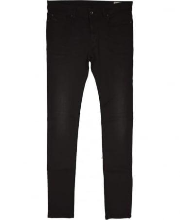 Diesel Black/Grey Sleenker 674S Skinny Jeans