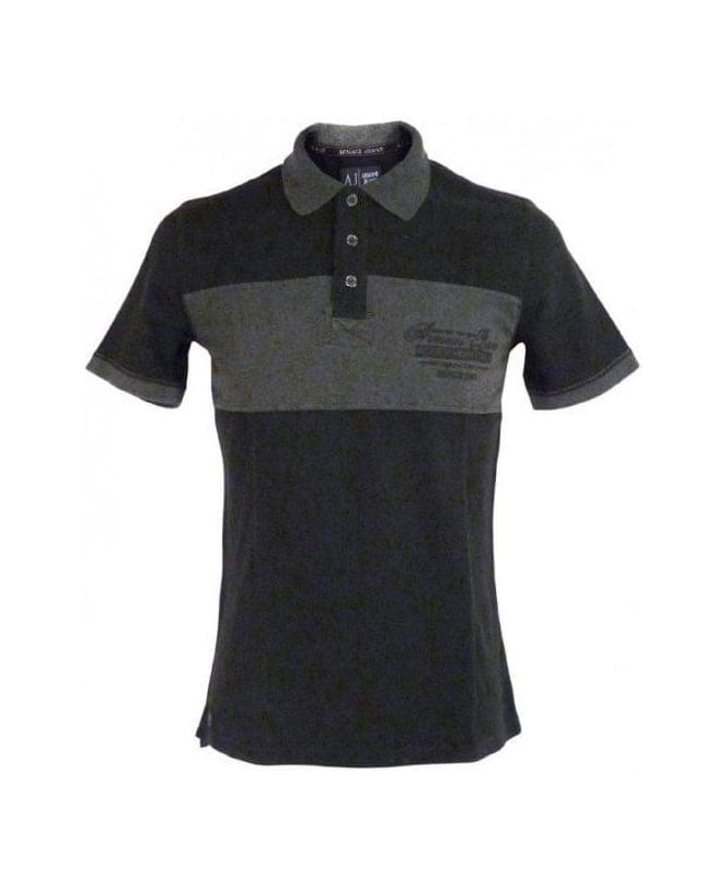 Armani Black/Grey Slim Fit Polo