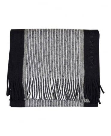 Hugo Boss Black & Grey Stripe Scarf