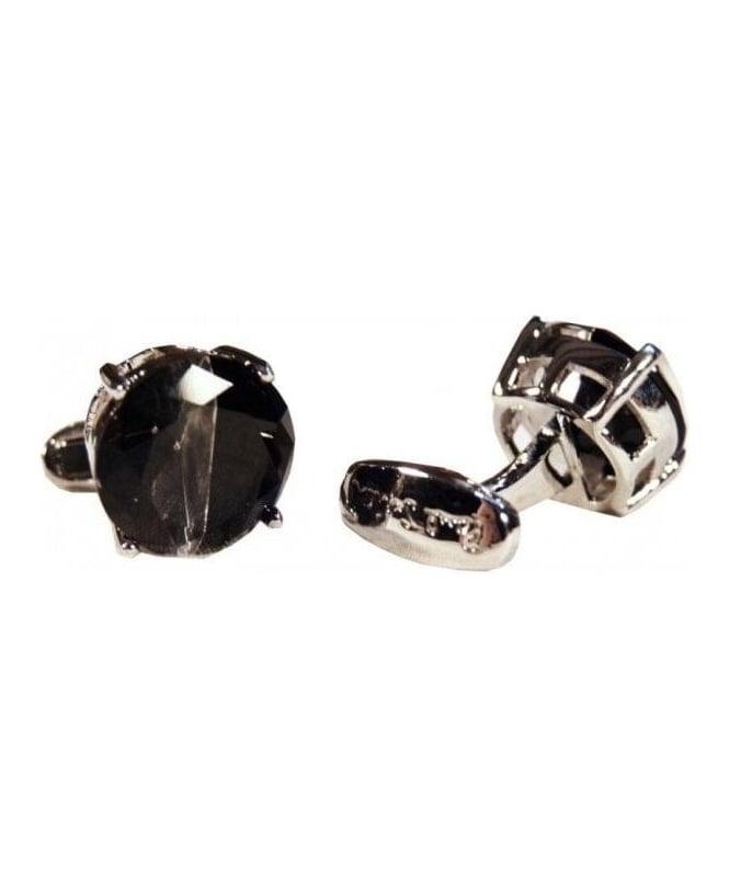 Paul Smith - Accessories Black Half Stone Cufflinks