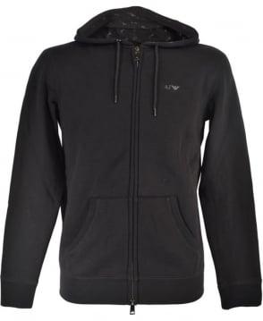 Armani Jeans Black Hooded 8N6M01 6JQDZ Sweatshirt