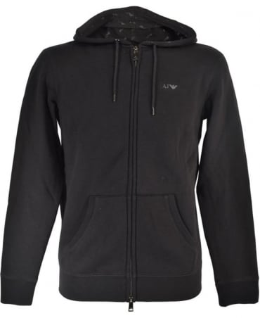Armani Black Hooded 8N6M01 6JQDZ Sweatshirt