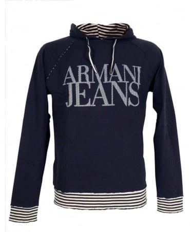 Black Hooded Armani Jeans Sweatshirt