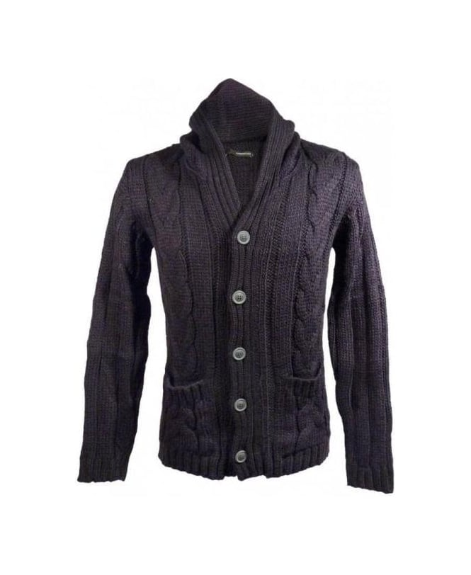 Hamaki-Ho Black Hooded Cardigan