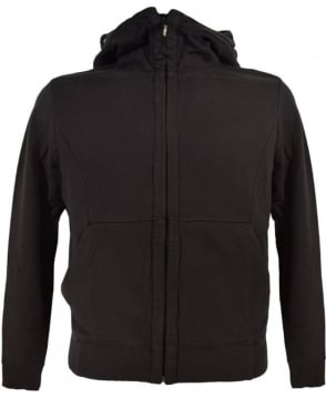 CP Company Black Hooded Goggle Sweatshirt
