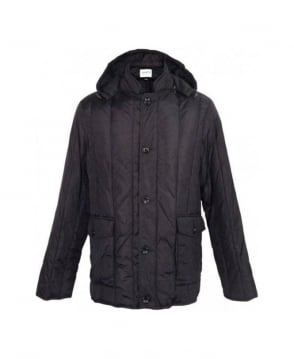Armani Collezioni Black Hooded Jacket