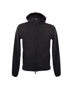 Armani Black Hooded Slim Fit Fleece U6M91 12