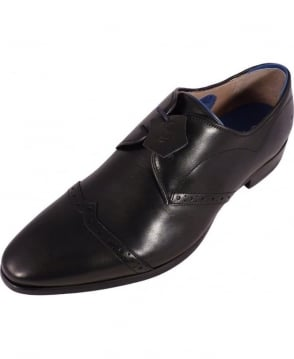 Oliver Sweeney Black Keighley Lace-Up Oxford Shoes